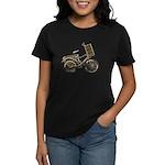 Golden Bicycle with Basket Women's Dark T-Shirt