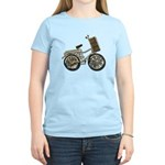 Golden Bicycle with Basket Women's Light T-Shirt