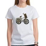Golden Bicycle with Basket Women's T-Shirt