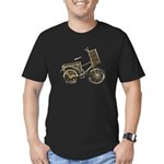 Golden Bicycle with Basket Men's Fitted T-Shirt (d