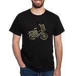 Golden Bicycle with Basket Dark T-Shirt