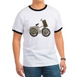 Golden Bicycle with Basket Ringer T