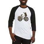 Golden Bicycle with Basket Baseball Jersey