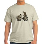 Golden Bicycle with Basket Light T-Shirt