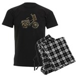 Golden Bicycle with Basket Men's Dark Pajamas