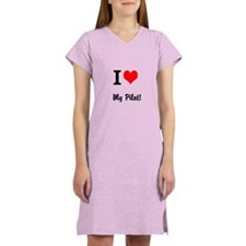 I Heart My PIlot Women's Nightshirt