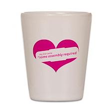 Pink Heart Contemporary Shot Glass