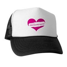 Pink Heart Contemporary Trucker Hat