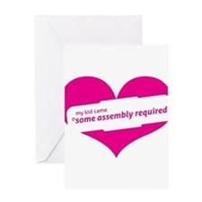 Pink Heart Contemporary Greeting Card