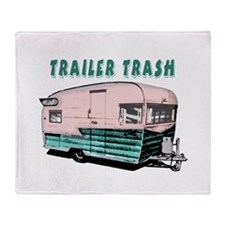 Trailer Trash Throw Blanket