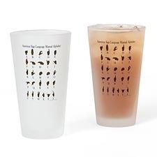 ASL Alphabet Drinking Glass