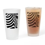 zebra print Drinking Glass
