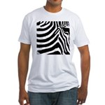 zebra print Fitted T-Shirt