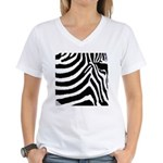 zebra print Women's V-Neck T-Shirt