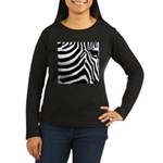 zebra print Women's Long Sleeve Dark T-Shirt