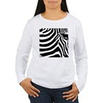 zebra print Women's Long Sleeve T-Shirt