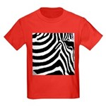 zebra print Kids Dark T-Shirt