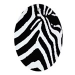 zebra print Ornament (Oval)