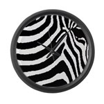 zebra print Large Wall Clock