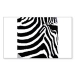 zebra print Sticker (Rectangle)
