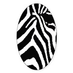 zebra print Sticker (Oval 50 pk)