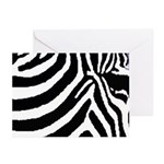 zebra print Greeting Cards (Pk of 10)