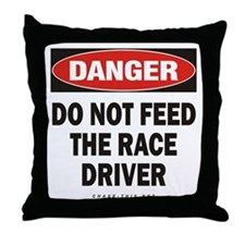 Race Driver Throw Pillow