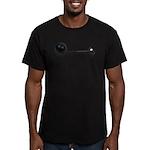 Ball Chain Gavel Men's Fitted T-Shirt (dark)