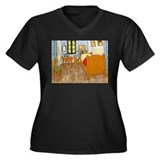 Vincent Van Gogh Bedroom Women's Plus Size V-Neck