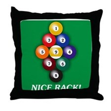 9-BALL Throw Pillow