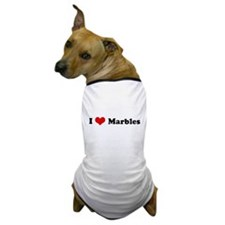 I Love Marbles Dog T-Shirt