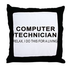Computer Tech Throw Pillow