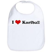 I Love Korfball Bib