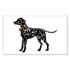 Christmas or Holiday Dalmatian Silhouette Stickers