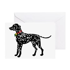 Christmas or Holiday Dalmatian Silhouette Greeting