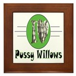 Pussy Willows Framed Tile