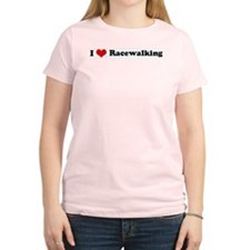 I Love Racewalking Women's Pink T-Shirt