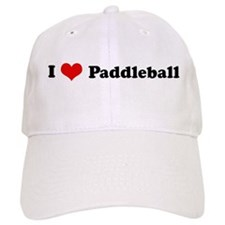 I Love Paddleball Baseball Cap