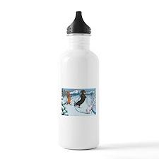 Ski Dachshunds Water Bottle