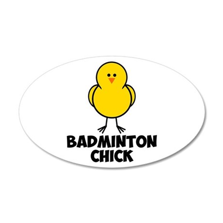 Badminton Chick 22x14 Oval Wall Peel