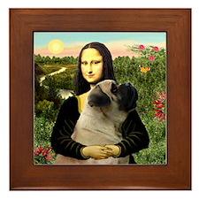 Mona's Bull Mastiff Framed Tile