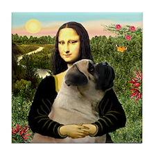 Mona's Bull Mastiff Tile Coaster