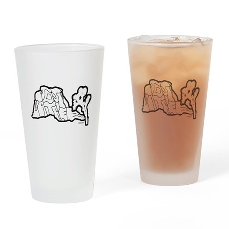 Joshua Trees and Intersection Drinking Glass