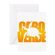 Cape Verde Turtle Orange Greeting Card