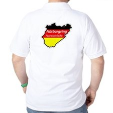 (2 SIDE PRINT) German Auto Sport Polo T-Shirt