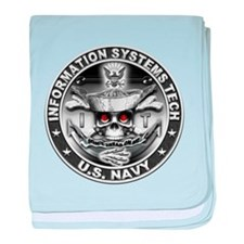 USN Information Systems Techn baby blanket