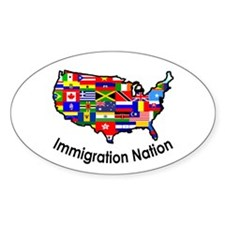 Flags of the World Within the US Oval Decal