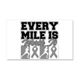 Every Mile Brain Cancer Car Magnet 20 x 12