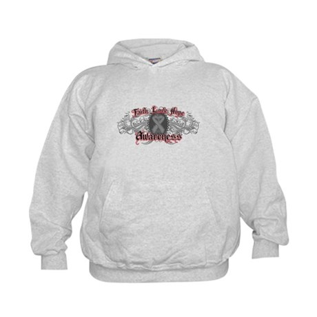 Brain Cancer Faith Kids Hoodie