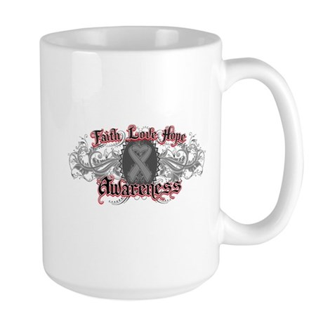 Brain Cancer Faith Large Mug